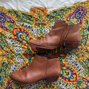 Brown leather bootie Sam Edelman
